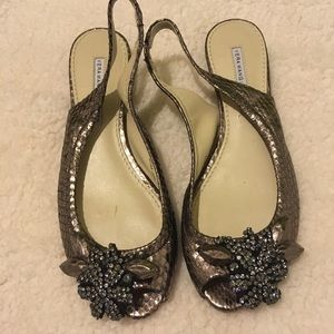 Vera Wang Lavender- rose gold sling back shoe